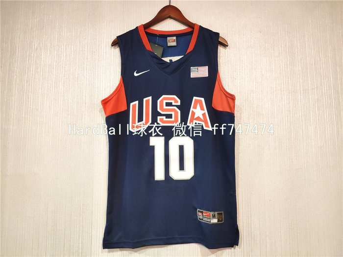柯比·布萊恩 (Kobe Bryant) NBA世界盃美國夢幻隊 10號 球衣 深藍色