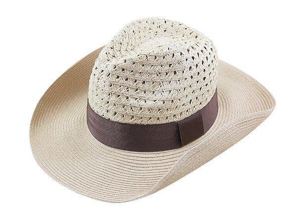 金城武同款通用型限定帽子/大頭圍 60cm / 流行(咖啡色帶4cm)寬邊(10cm)加大帽沿軟藤紳士帽-卡其色