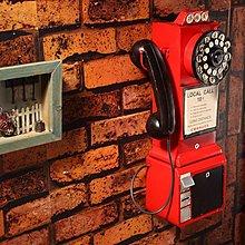 老式複古牆壁掛式電話機模型擺件酒吧咖啡廳牆壁裝飾服裝店道具*Vesta 維斯塔*