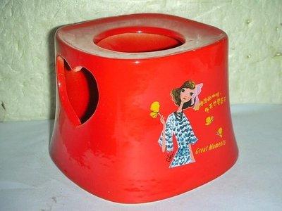 aaT.全新NESCAFE雀巢紅色心形暖杯燭台(女)!!--值得擁有!/6房樂箱119/-P