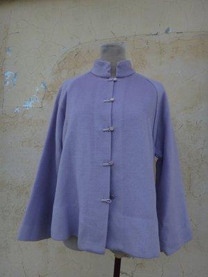 jacob00765100 ~ 正品 SHIATZY CHEN 夏姿 紫色 羊毛中式外套 size: 40
