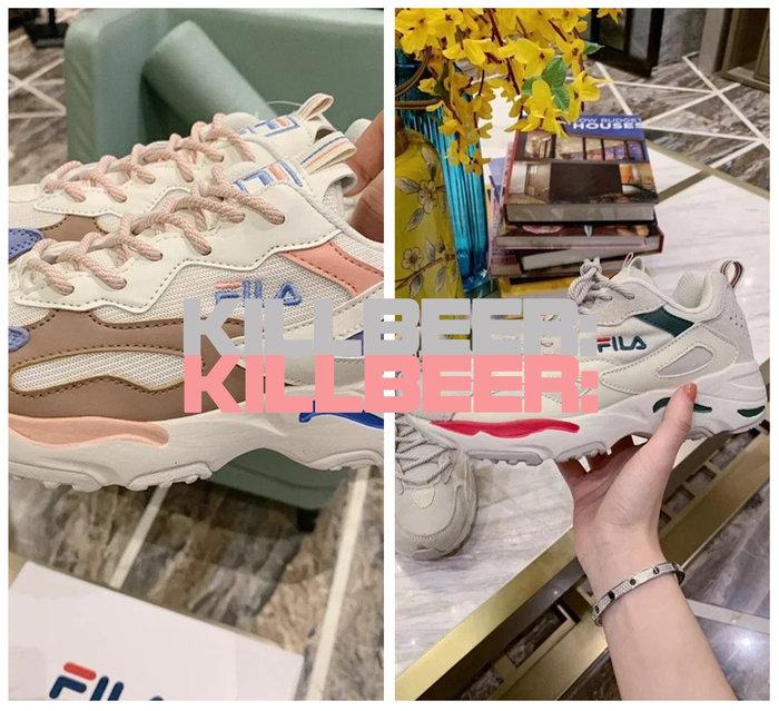 KillBeer:代購✈️✈️韓國熱賣!泫雅用斐樂FILA TRACER系列經典厚底老爹鞋運動鞋馬卡龍配色A080406