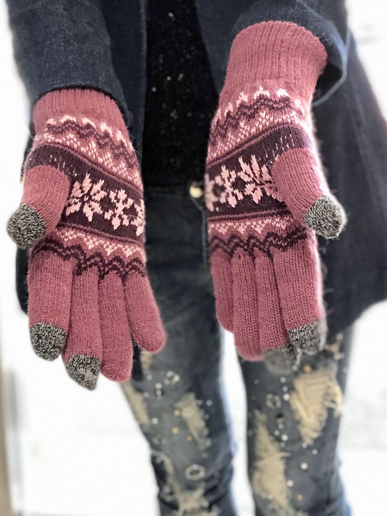 Muji 類似款 觸控手套 台灣製 高品質絨布加厚 超保暖毛針織手套 《熱銷款》