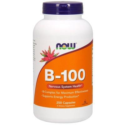 ✿大地✿Now 高單位維他命B群 葉酸/膽鹼/肌醇/菸鹼酸 B-100*250粒(素) 客訂代運賣場