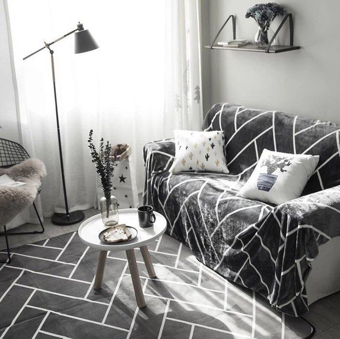 簡約主義北歐風潮牌地墊毛毯加厚客廳臥室窗戶防滑地毯寶寶爬爬墊