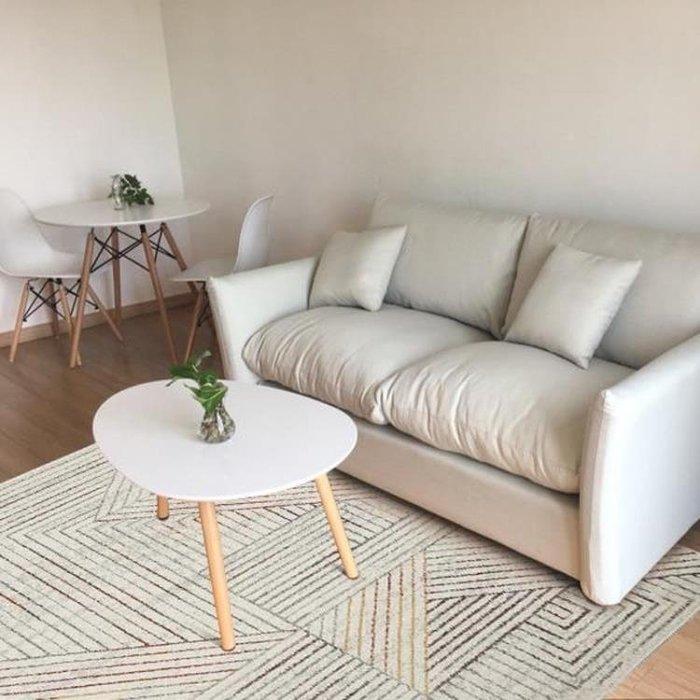 『哲原雜貨』新中式北歐現代簡約客廳地毯臥室茶幾飄窗墊可機洗房間長方形灰色/CK7998