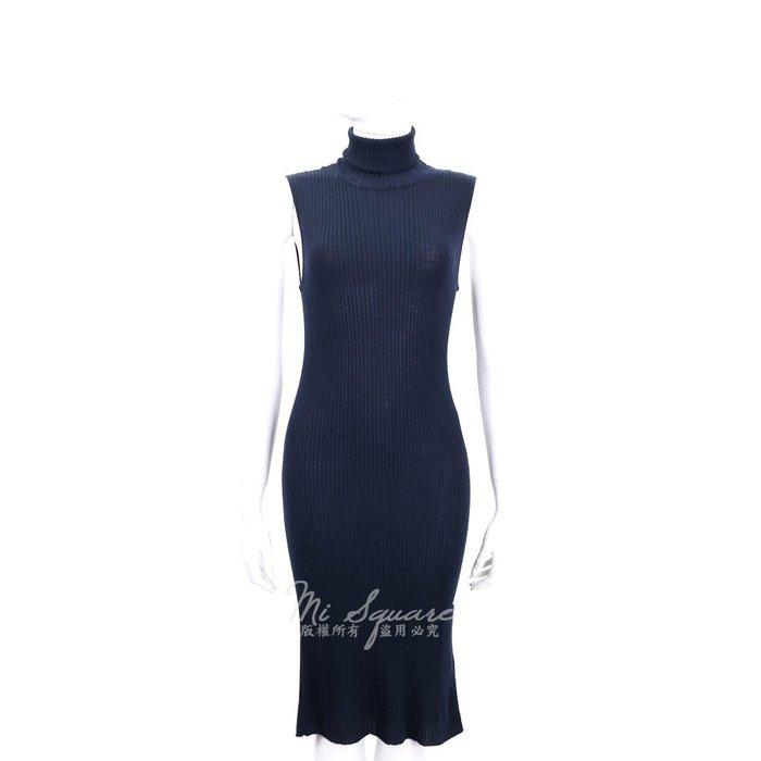 米蘭廣場 ALLUDE 100% WOOL 深藍色高領羊毛無袖洋裝 1540650-34