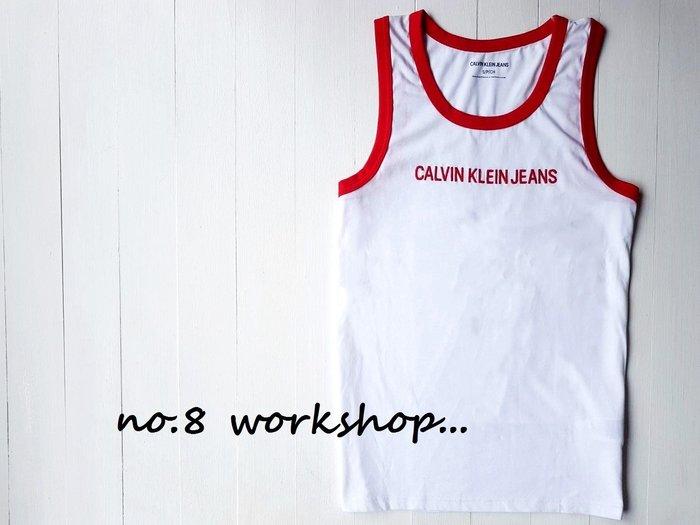 T☆【CK男生館】☆【Calvin Klein滾邊LOGO刺繡背心】☆【CK003Z5】(S-M)6/10到貨