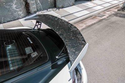 TWL台灣碳纖 保時捷 718 大理石紋大尾翼 碳纖維卡夢 必改GT4 尾翼 藍寶堅尼款 Cayman Boxster