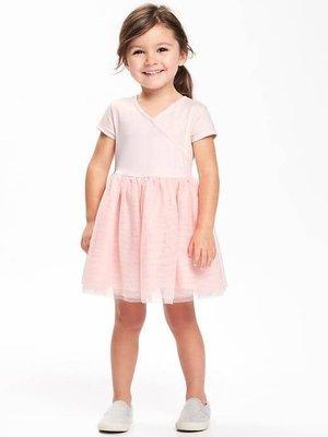美國OLD NAVY V領棉質拼接網紗紗裙短袖連身洋裝(現)zara gap h&M Mothercare 1/2