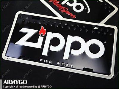 【ARMYGO】ZIPPO原廠造型車牌 (一般款)