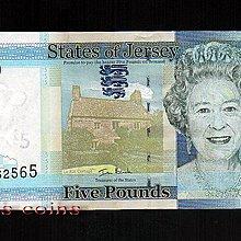【Louis Coins】B074-JERSEY-2010澤西島紙鈔.5 Pounds / Livres / Louis