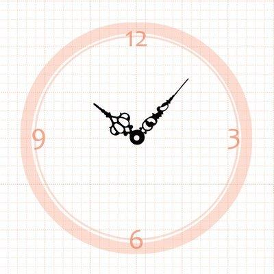【鐘點站】J051035 簍空花紋指針/ 適用SKP壓針機芯 / 分針5.1公分 時針3.5公分 ├石紋鐘針/石頭