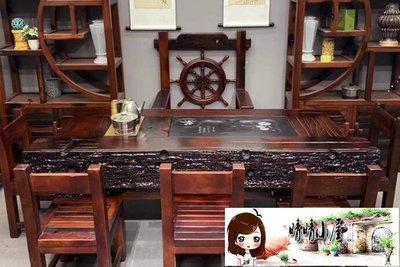 茶幾 老船木茶桌椅組合簡約辦公家具中式實木功夫茶臺小戶型家用小茶幾  【晴晴小屋】