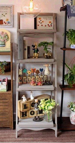 鄉村風展示架 飾品架 花架 陽台櫃 歐風 zakka 植物置物架