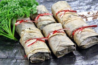 【年菜系列】芋荷包(于荷包)10入(奶素)/約600g 荷葉包裹大甲芋頭內餡搭配香菇等調味料~蒸熟即可食用