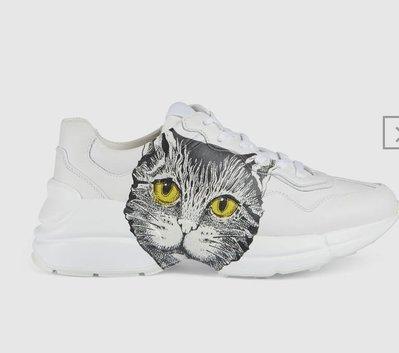 [Ohya精品代購] 2019 全新代購 GUCCI 古馳 Rhyton Mystic Cat 貓 老爹鞋 583337