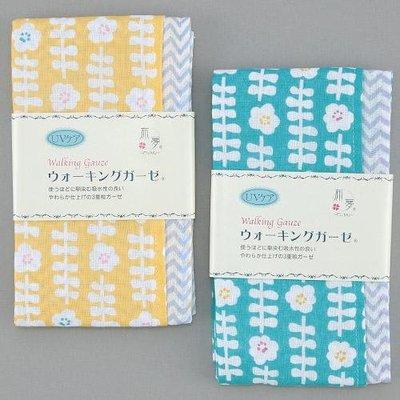 ˙TOMATO生活雜鋪˙日本進口雜貨人氣北歐風花圖印純棉三重紗多用途運動毛巾(預購)