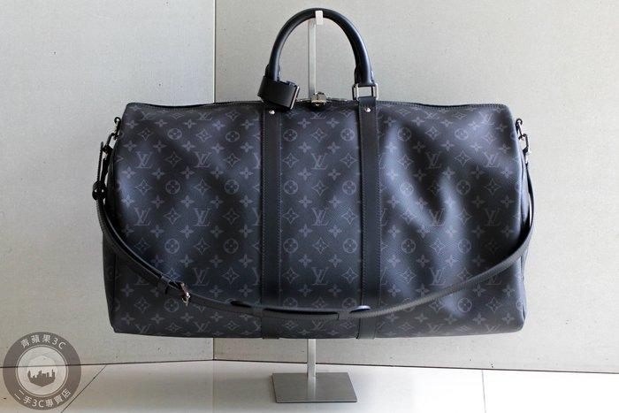 【青蘋果3C】路易威登 LV  KEEPALL BANDOULIÈRE 55 手提 斜背包 行李袋 #49971
