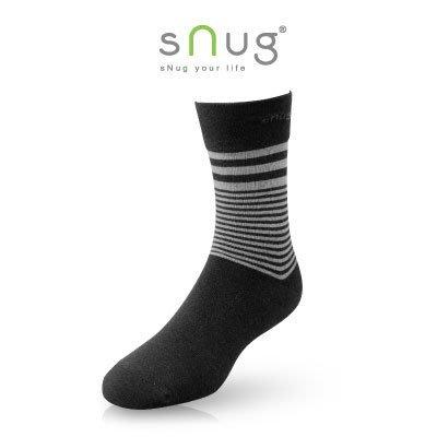 sNug 除臭紳士襪 條紋黑 除臭襪 羽嵐服飾