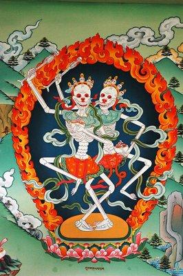 佛像畫 #定制-尸陀林主畫像 密宗護法神 相紙打印 藏傳唐卡 雙面塑封