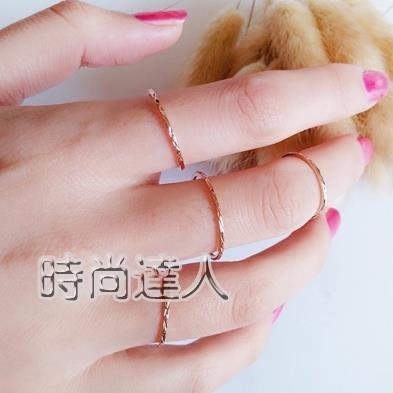 日韓鍍玫瑰金色鈦鋼戒指超細簡約關節食指環尾戒熱賣夯款