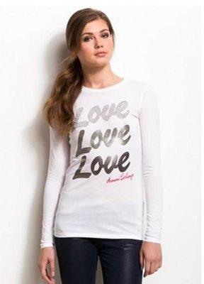 @小凸媽媽@美國潮牌 Armani Exchange【全新真品現貨在台M號】Love 真愛質感女生長T