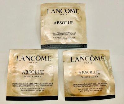 『現貨』Lancôme 蘭蔻 絕對完美黃金玫瑰修護眼霜1ml/鑽白乳霜1ml/鑽白精粹1ml