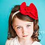 全新美國童裝髮飾Gracious May Snugars Cherry Red Bow Headband櫻桃紅蝴蝶結髮帶