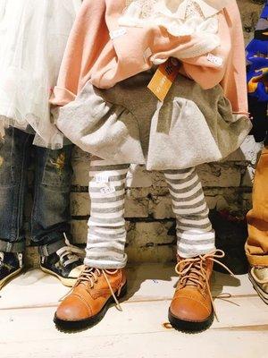 秋冬。新品【花栗鼠KiDs ShOp】-橫條棉質裙褲(有#17)