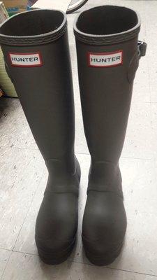 正品深綠色HUNTER 雨鞋 UK4 及羊毛鞋墊
