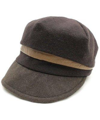 Ca4La日本製 *爆美一頂,細緻100%層次感造型真牛革 羊毛80%+安哥拉兔毛20%,貝蕾帽 (NO.1241)