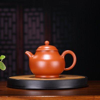 高鳴商城 宜興紫砂壺名家純手工趙莊朱泥潘壺 泡茶專用  禮品定制 編號a005