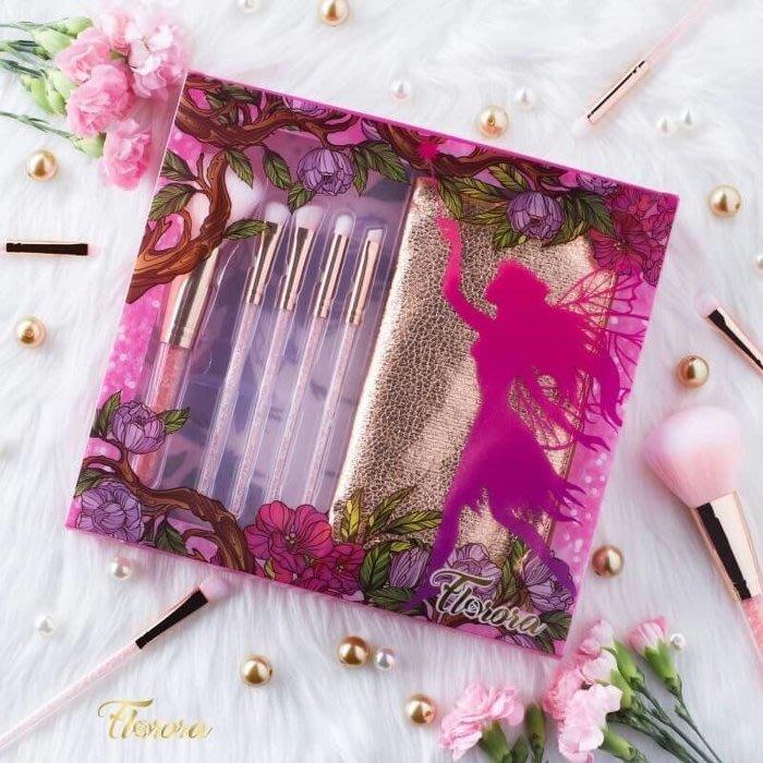 泰國Florora水晶鑽化妝筆刷  化妝刷具組 化妝包 彩妝工具 彩妝刷組