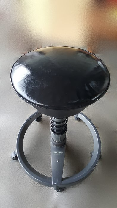 台中二手家具店 宏品全新中古傢俱 F62102*黑色吧檯椅 美容椅* 休閒椅 書桌椅 辦公椅 2手桌椅拍賣