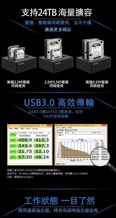 CyberSLIM S2-U3C6G  PLUS 2.5吋/3.5吋 雙層硬碟外接盒(USB3.0)