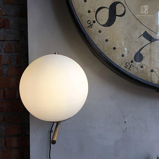 【曙muse】北歐簡約圓球壁燈 金色支架 氣氛燈 床頭燈 造型燈 loft 工業風 咖啡廳 民宿 餐廳 住家