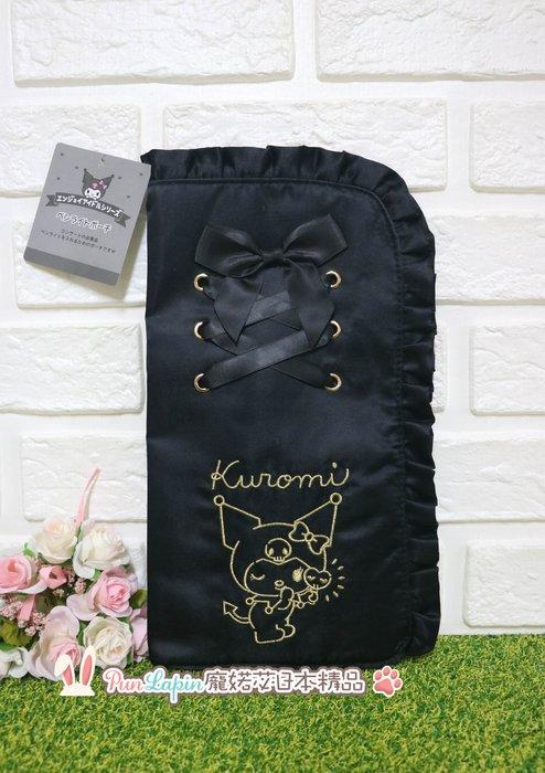 (現貨在台)日本正品Sanrio 三麗鷗 萬用包 收納包 化妝包 L型包 手拿包 隨身包 庫洛米 酷洛米 KUROMI