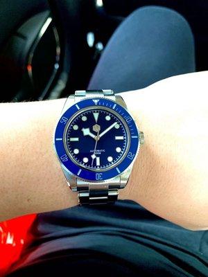 San Martin BB Black Bay Diver SN008G Tudor 同款機械錶 潛水錶