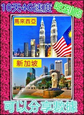 [瘋行網~全球網卡專賣店]新加坡+馬來西亞4G速度10天吃到飽