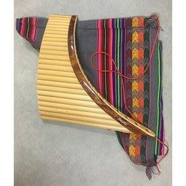 【友客里】((4樂器))-排蕭-南美秘魯名牌Tupay職業用南美排蕭25音(送袋)-Panflauta