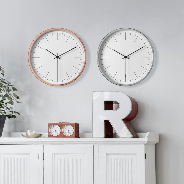〖洋碼頭〗北歐靜音鐘錶客廳創意時鐘設計感現代簡約掛鐘臥室石英鐘家用掛表 ogh143