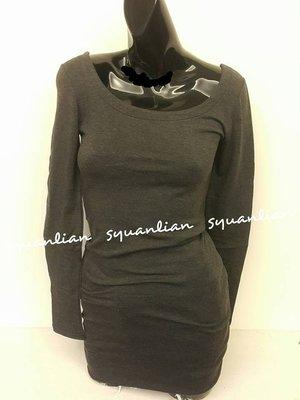♥In style♥ⓚⓞⓡⓔⓐ水鑽美背內磨毛長版上衣洋裝♥(深灰色.粉膚色.紫紅色.可可色)