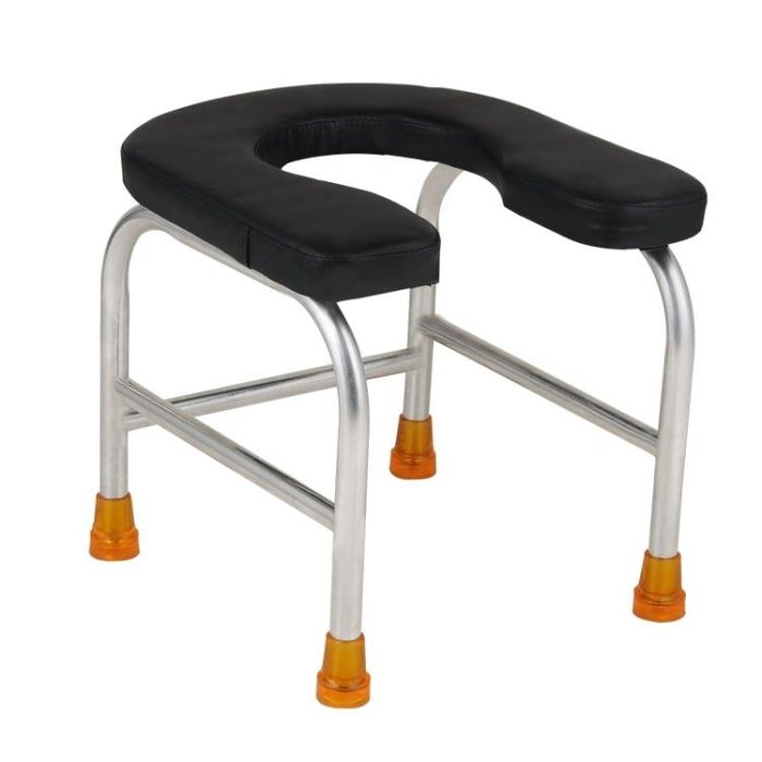 U型坐便凳馬桶凳病人廁所椅子坐便椅子孕婦老人蹲便凳子不銹鋼第