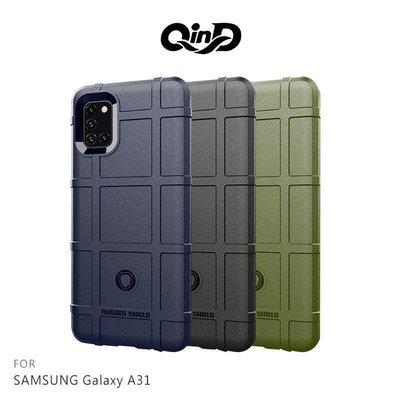 --庫米--QinD SAMSUNG Galaxy A31 戰術護盾保護套 鏡頭加高 保護套 手機殼