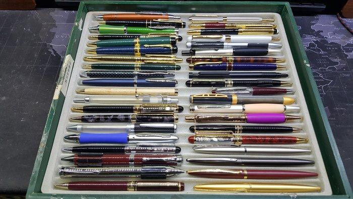 【威利購】小批切貨樣品筆系列(4)共40支 保證都沒水 原子筆.鋼珠筆.自動鉛筆