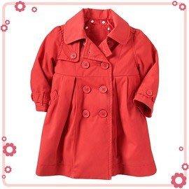 百搭《喜氣紅色款》舖綿~長版大衣 (T2)