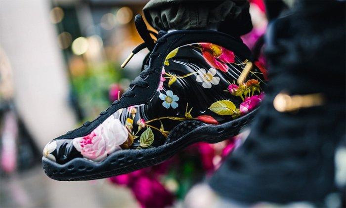 Nike Air Foamposite One Floral 314996-012黑花卉噴泡太空鞋情人節非天津Penny