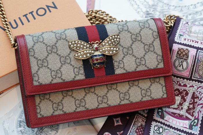 Gucci 476079 Chain Bag 小蜜蜂鍊帶肩背包 現貨