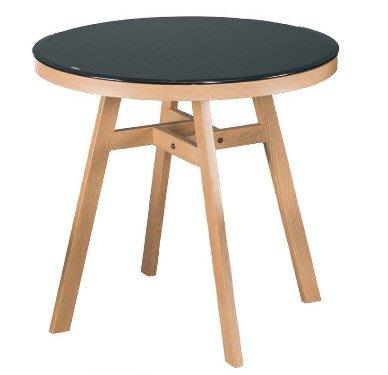 【韓風臻品R575A6】黑玻造型圓桌  *餐桌*休閒桌*洽談桌*特色店桌子